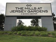 Les moulins aux jardins de débardeur en Elizabeth, New Jersey Images libres de droits