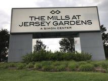 Les moulins aux jardins de débardeur en Elizabeth, New Jersey Images stock