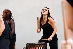 Les Mousso Doums. Aurillac International Street Theatre Festival in France, 2010. Show, Les Mousso Doums by La Torpille. 500 artistics teams,2569 artists,590 royalty free stock photo