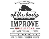 Les mouvements répétés et réguliers du corps pendant les prières améliorent le tonus musculaire et la puissance illustration de vecteur