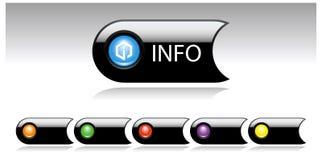 les multimédia noirs de bouton ont placé illustration stock