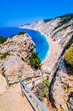 Les munitions célèbres de Platia échouent en île de Kefalonia, Grèce La plage a été affectée par le tremblement de terre au print Images stock