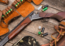 Les munitions du chasseur Photo stock