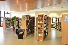 Les Mureaux, France - april 2 2016 :  multi media library Stock Photo