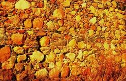 Les murs antiques de la forteresse à l'arrière-plan Image libre de droits
