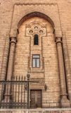 Les murs d'une mosquée antique au vieux Caire, Egypte Images stock