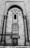Les murs d'une mosquée antique au vieux Caire, Egypte Image stock
