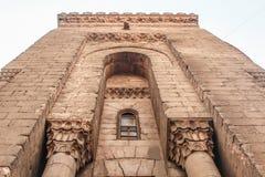 Les murs d'une mosquée antique au vieux Caire, Egypte Photo libre de droits