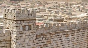 Les murs de Jérusalem Photos libres de droits