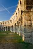 Les murs de l'amphithéâtre romain Photographie stock libre de droits