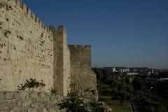 Les murs de la vieille ville de Jérusalem, et la Terre Sainte Image stock