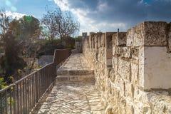 Les murs de la vieille ville de Jérusalem, Israël Images libres de droits