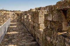 Les murs de la vieille ville de Jérusalem, Israël Photos stock