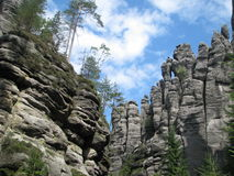 Les murs de roche Photographie stock libre de droits