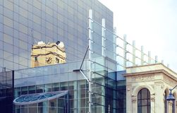 les murs de verre images libres de droits