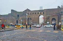 Les murs de ville Image stock