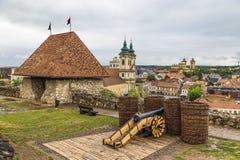 Les murs de ville avec la tour de surveillance Images libres de droits