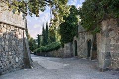 Les murs du vieux château Photo libre de droits