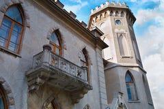 Les murs du vieux château Photos stock