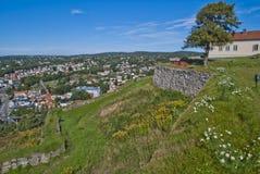 Les murs en pierre à fredriksten la forteresse Photos stock