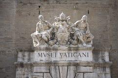 Les musées de Vatican, Musei Vaticani, sont les musées publics d'art et de sculpture à Ville du Vatican, qui des travaux d'affich Photos libres de droits
