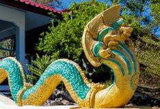 Les Naga de Phaya gardent le temple Wat en Thaïlande image libre de droits