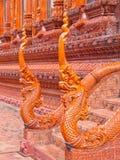 Les Naga sculptent effectué à partir de la tuile glacée Photo libre de droits