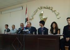 Les nations ont uni la conférence de presse Photos libres de droits