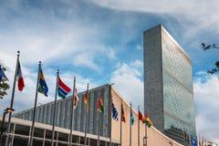 Les Nations Unies construisant à New York Images libres de droits