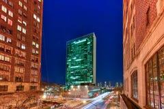 Les Nations Unies construisant - New York photo stock