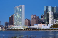 Les Nations Unies construisant New York City Image stock