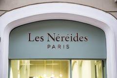 Les Nereides sklepu znak Zdjęcia Royalty Free