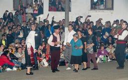 Les nestinars les plus anciens aux jeux de Nestinar dans le village de Bulgari, Bulgarie Photos stock