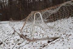 Les nets footbal préparent pour la formation Maintenant chacun peut donner un but Images stock