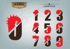 Les nombres abstraits est variété de logo sur le fond abstrait Photos stock