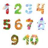 Les nombres aiment des symboles de Noël photos stock