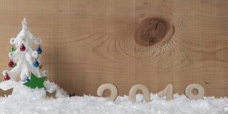 Les nombres en bois formant 2018, nouvelle année célèbrent Photographie stock