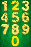 Les nombres mettent à zéro à neuf illustration stock