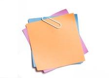 Les notes collantes ont empilé ensemble Photo libre de droits