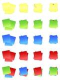 Les notes de post-it ont coloré l'ENV Image libre de droits