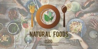 Les nourritures naturelles mangent le bon concept bon de wagon-restaurant de conservation photos stock