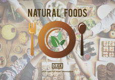 Les nourritures naturelles mangent le bon concept bon de wagon-restaurant de conservation photographie stock libre de droits