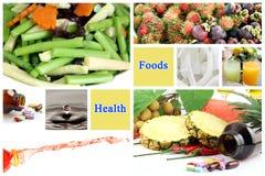 Les nourritures saines font des bonnes santés. Photo stock