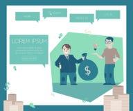 Les nouveaux projets et concept de financement de démarrages sur le site Web paginent le calibre illustration libre de droits