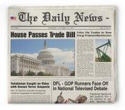 Les nouvelles quotidiennes Photographie stock