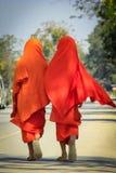 Les novices marchent sur la rue photos libres de droits