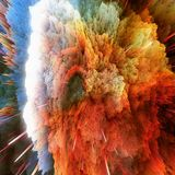 Les nuages colorés de galaxie et le grand abrégé sur coup tiennent le premier rôle la texture illustration stock