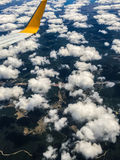 Les nuages pilotent le tir Image stock