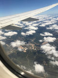 Les nuages pilotent le tir Photos stock
