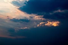 Les nuages sans paysage image libre de droits